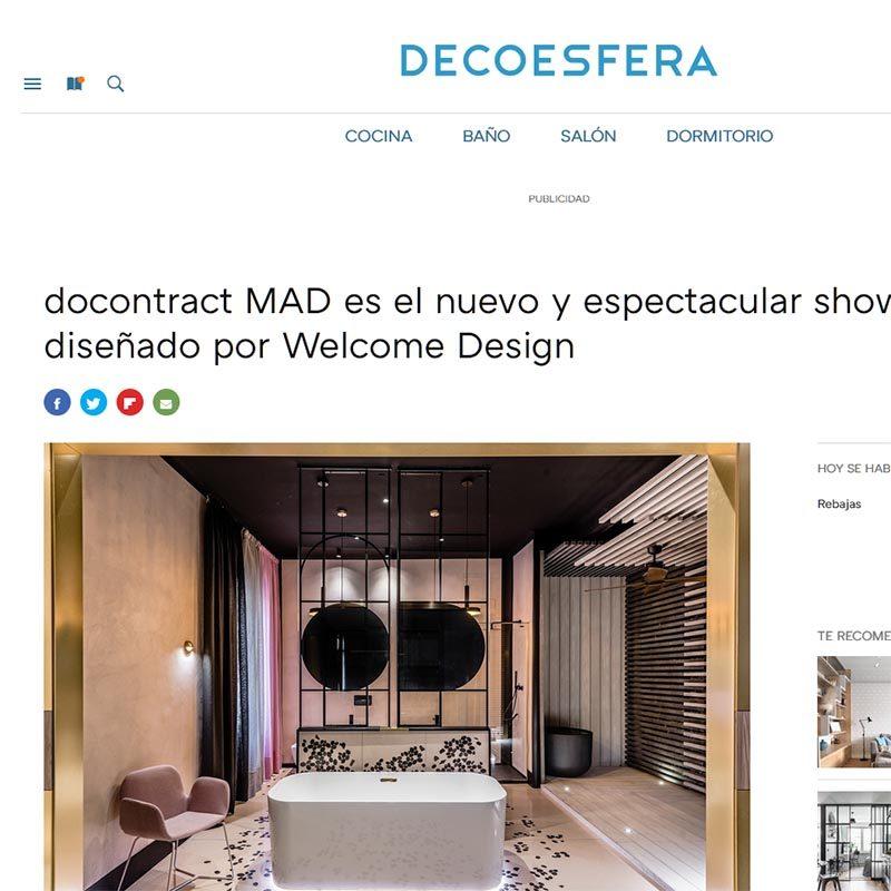 DECOESFERA docontract MAD es el nuevo y espectacular showroom diseñado por Welcome Design