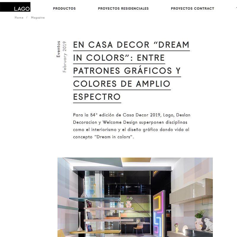 """LAGO EN CASA DECOR """"DREAM IN COLORS"""": ENTRE PATRONES GRÁFICOS Y COLORES DE AMPLIO ESPECTRO"""