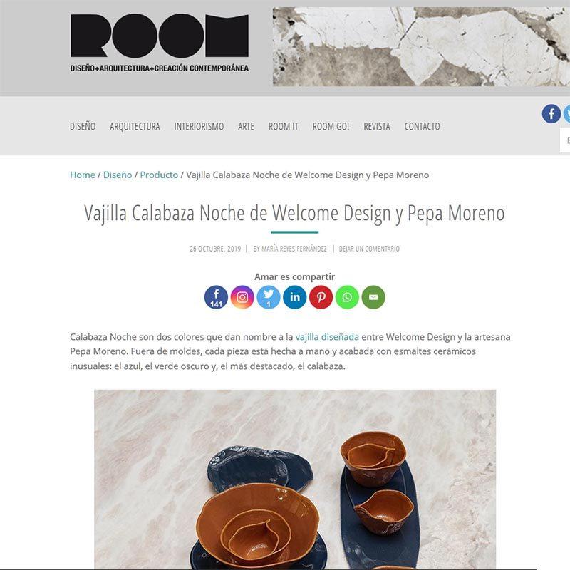 ROOM DISEÑO Vajilla Calabaza Noche de Welcome Design y Pepa Moreno