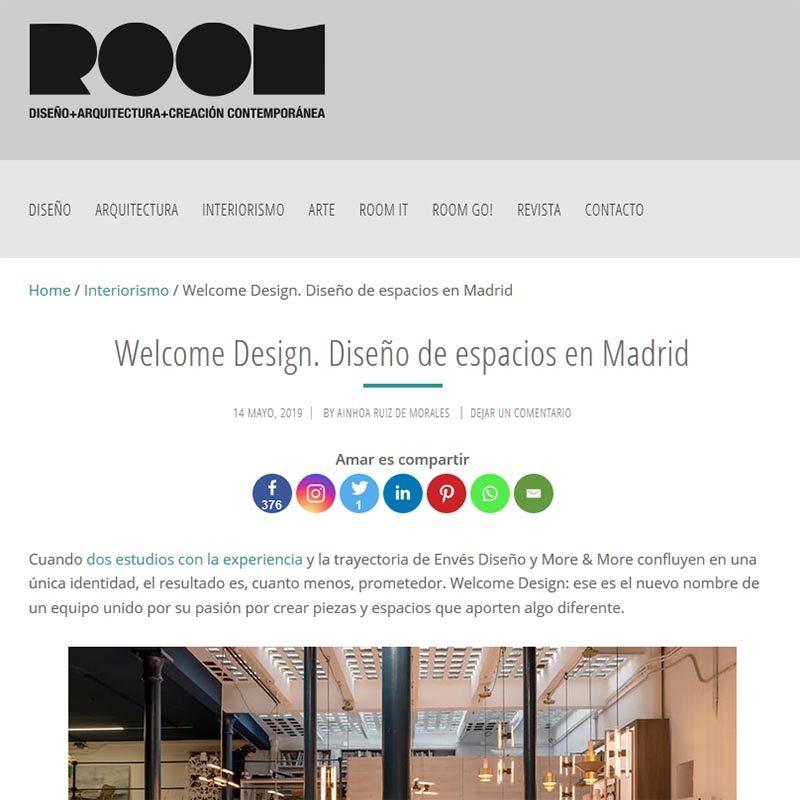 ROOM DISEÑO Welcome Design. Diseño de espacios en Madrid