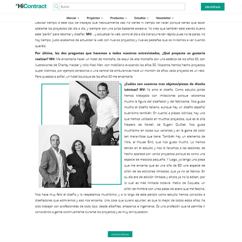 HiCONTRACT. Entrevista a Welcome Design