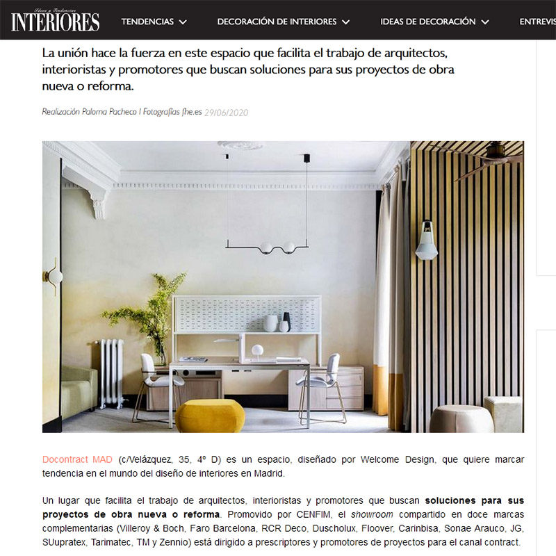 INTERIORES. Docontract mad, el espectacular showroom madrileño compartido por doce marcas