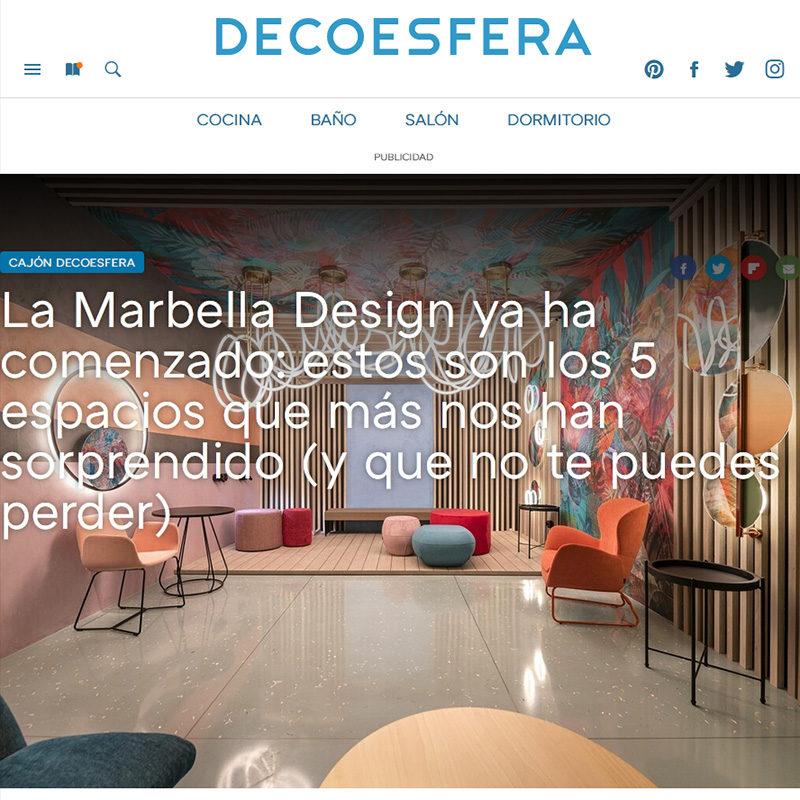 DECOESFERA. La Marbella Design ya ha comenzado: estos son los 5 espacios que más nos han sorprendido (y que no te puedes perder)