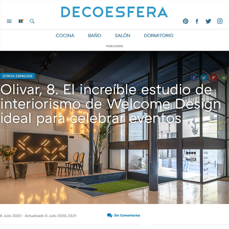 DECOESFERA. Olivar, 8. El increíble estudio de interiorismo de Welcome Design ideal para celebrar eventos